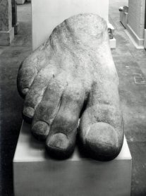 Colossal foot, possibly Serapis