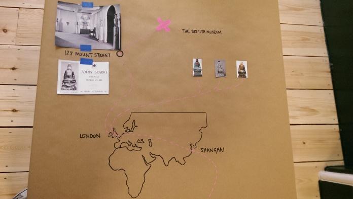 Budai's journey across the world