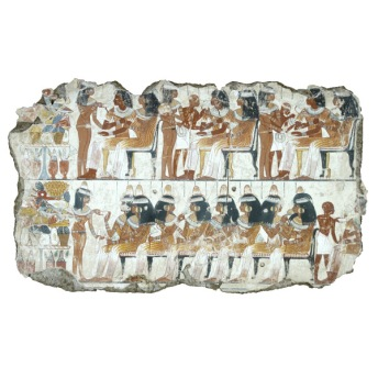 A feast for Nebamun, lower half